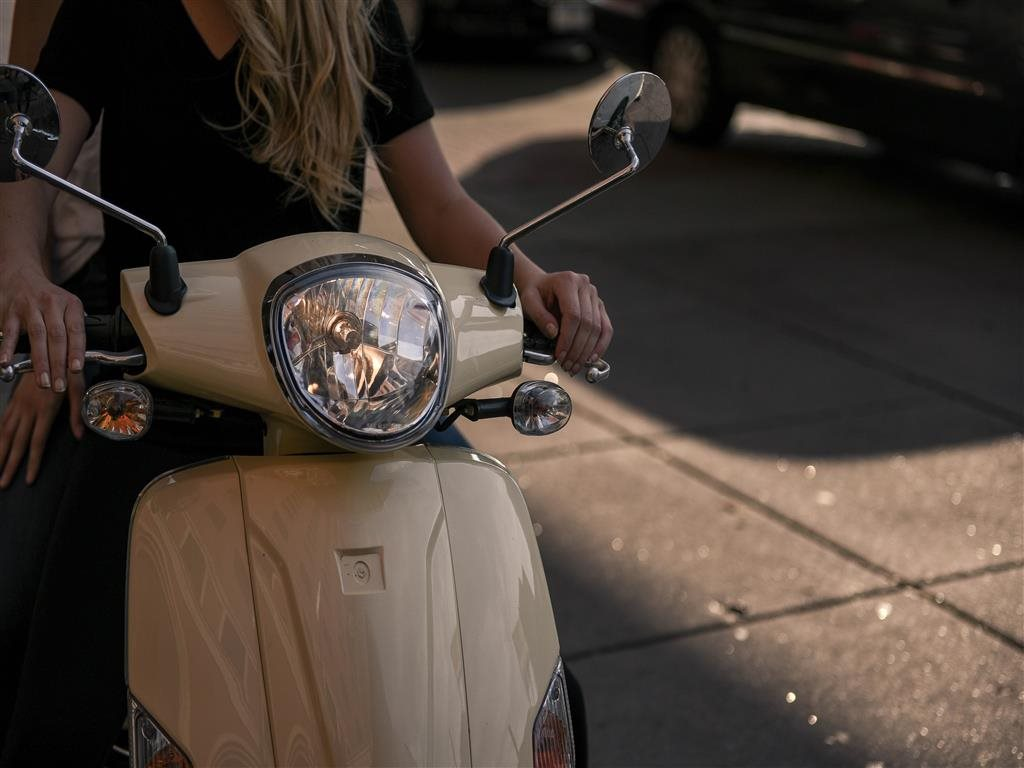 girl on moped