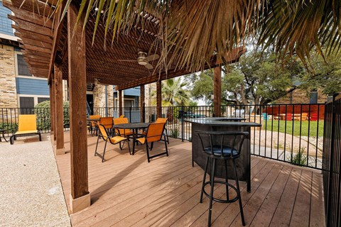 Motif South Lamar Outdoor Lounge by Pool