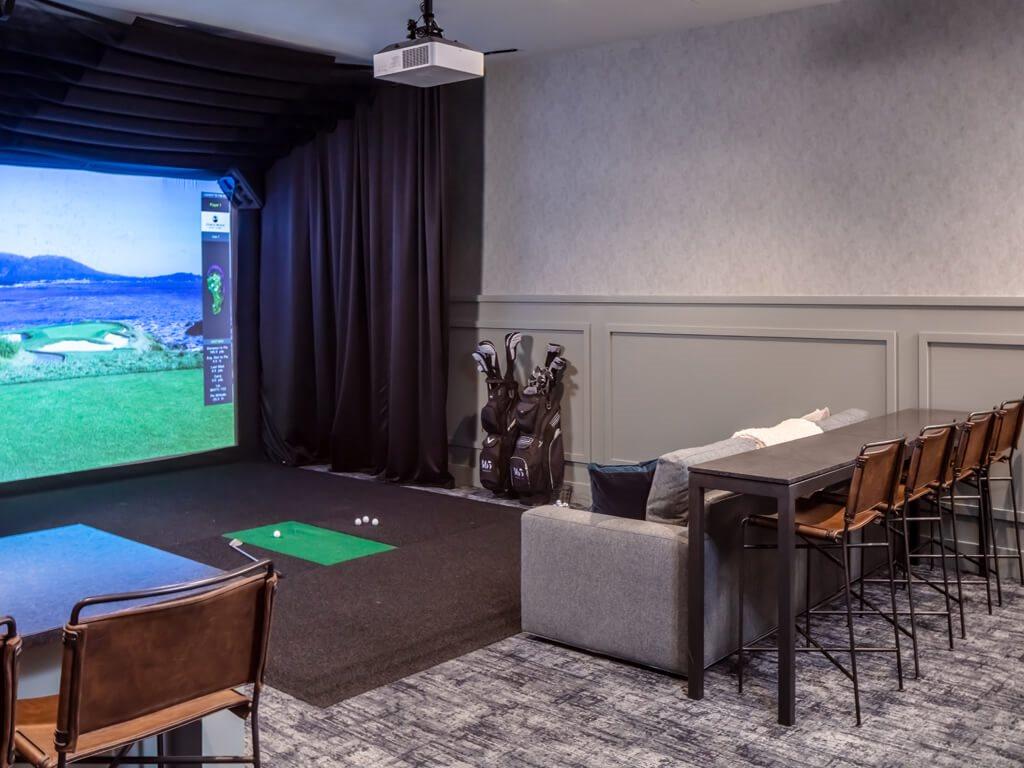 365 Nicollet Golf Simulator Room