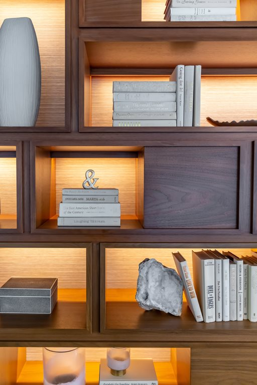Book shelf with home decor