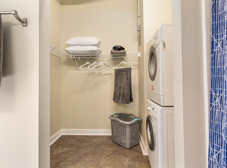 walk-in closet and washer dryer