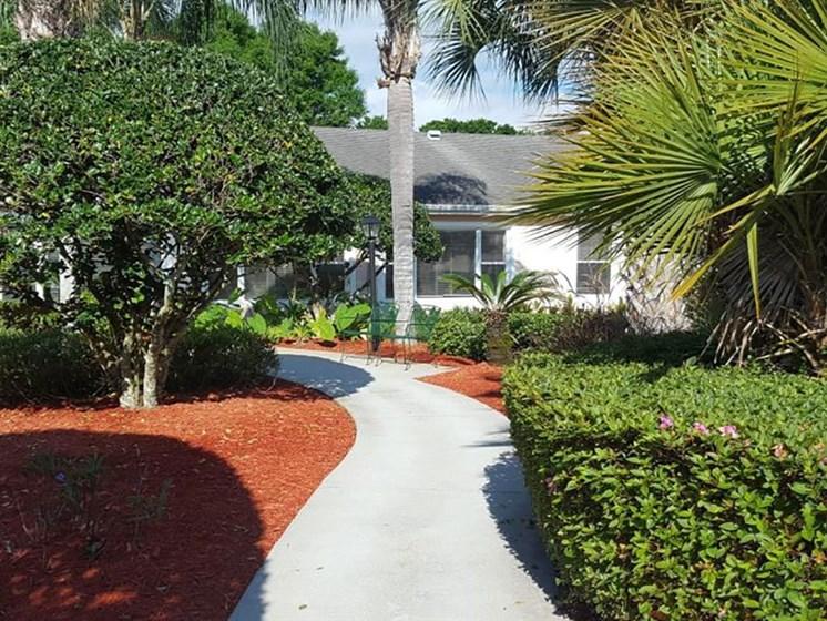 Courtyard Walking Space at Savannah Court of Brandon, Florida