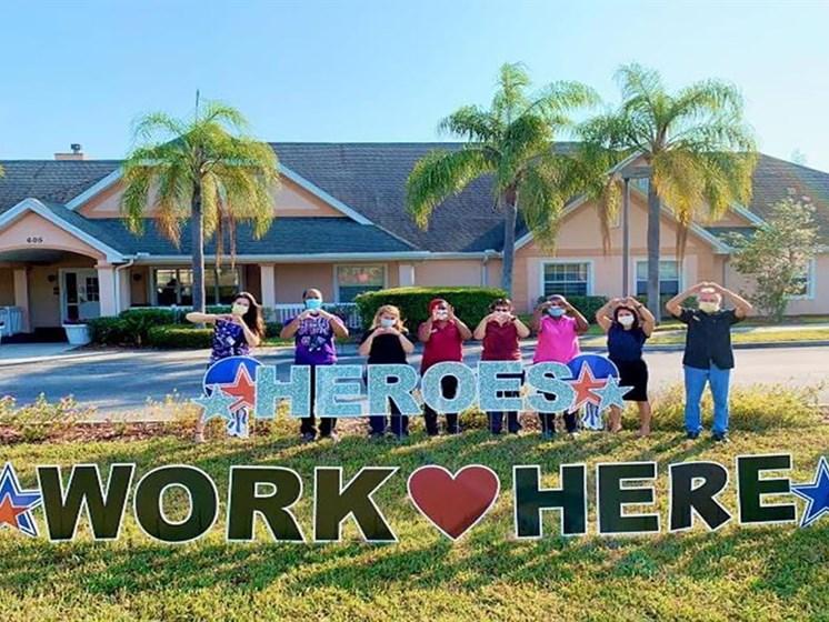 Heroes Work Here Event at Savannah Cottage of Lakeland, Florida, 33809