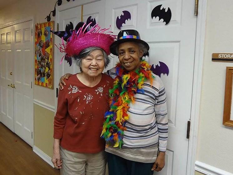 Happy Senior Resident at Savannah Cottage of Lakeland, Florida, 33809
