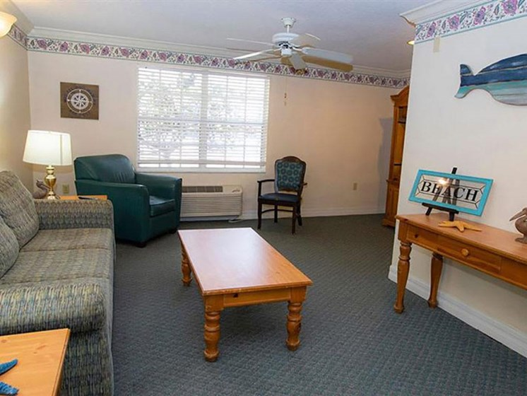 Living Room With Expansive Window at Savannah Court of Orange City, Orange City, FL, 32763