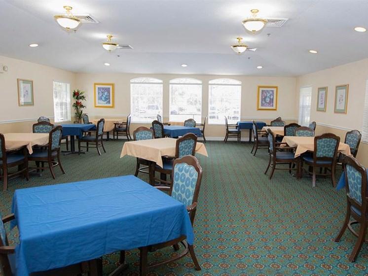 Dining Hall at Savannah Court of Orange City, Orange City, FL, 32763