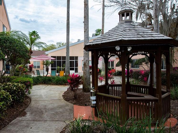 Courtyard Garden With Gazebo at Savannah Court of Maitland, Florida