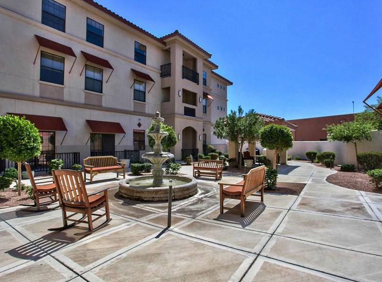 Enclosed Backyard Sitting at The Woodmark at Sun City, Near Phoenix, Arizona