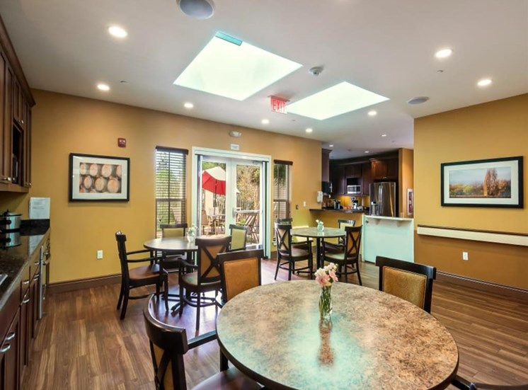 In-suite dining at Healdsburg, A Pacifica Senior Living Community, Healdsburg, CA, 95448
