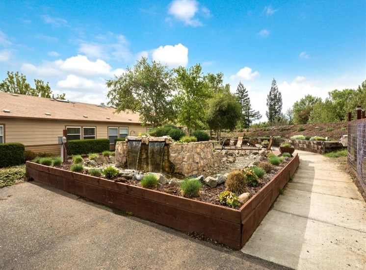 Charming Water Features at Healdsburg, A Pacifica Senior Living Community, Healdsburg, CA, 95448