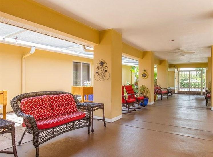 Ceiling Fan In Waiting Hall at Sun City Senior Living, Ruskin, Florida
