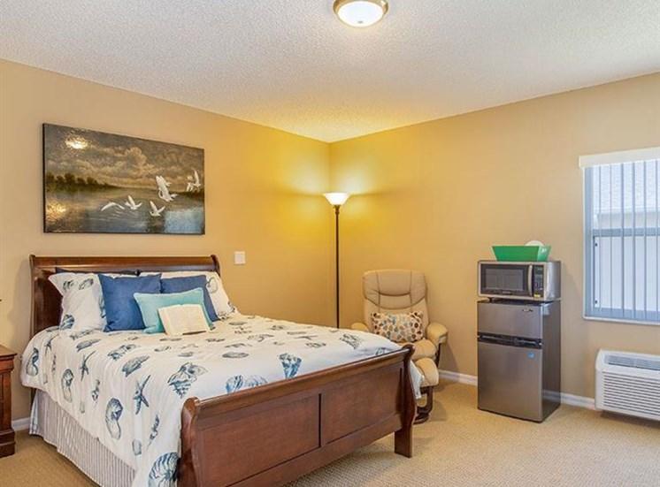Large Master Bedroom at Sun City Senior Living, Florida