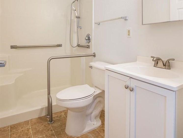 Western Toilet In Bathroom at Sun City Senior Living, Florida