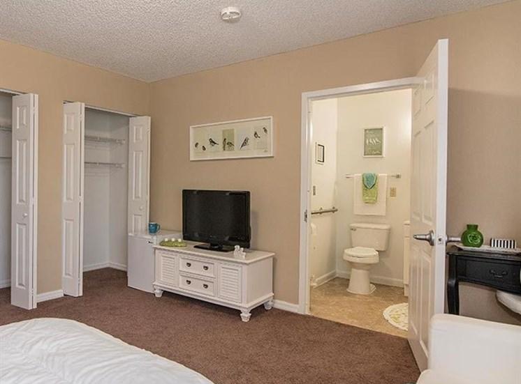 Bathroom View From Bedroom at Sun City Senior Living, Ruskin, Florida