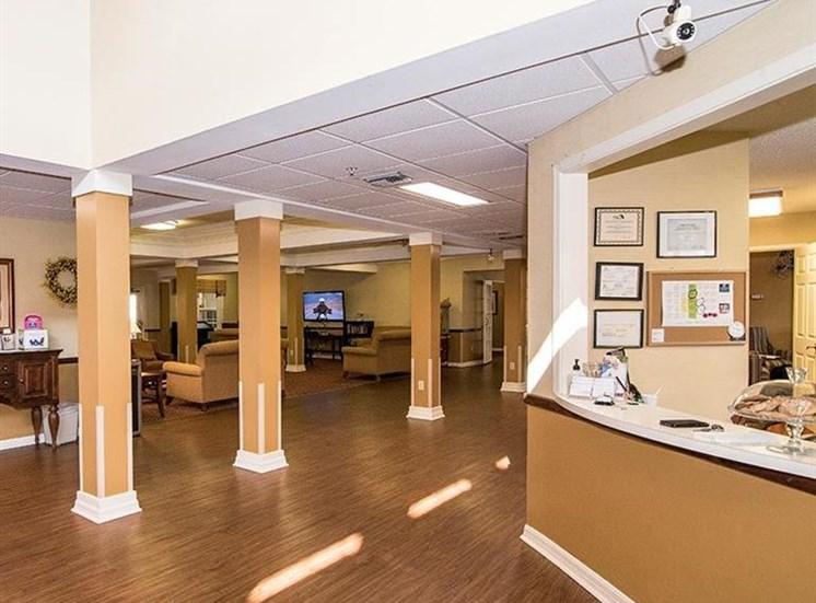 Reception Area at Sun City Senior Living, Ruskin, FL, 33572