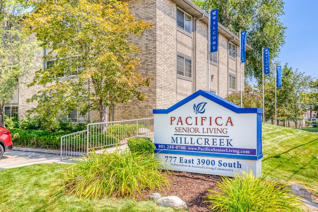 A photo of Pacifica Senior Living Millcreek's exterior.