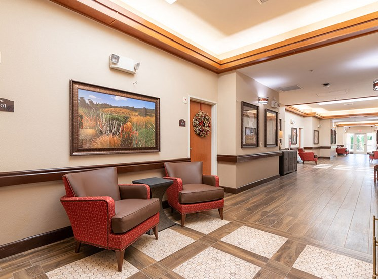 Big Entrance Hallway at Healdsburg, A Pacifica Senior Living Community, California, 95448