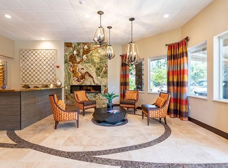 Welcoming Reception Area at Healdsburg, A Pacifica Senior Living Community, Healdsburg, 95448