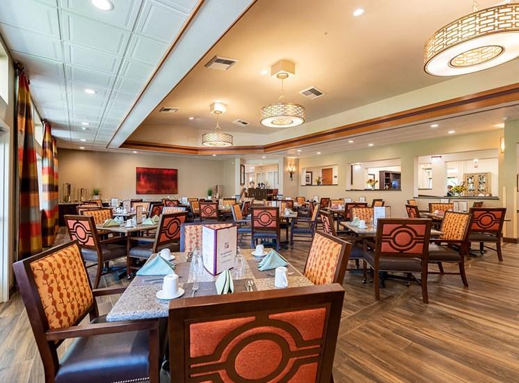 Defined Dining Area at Healdsburg, A Pacifica Senior Living Community, California, 95448