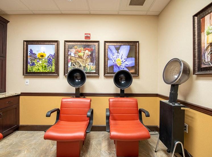 Styling Salon at Healdsburg, A Pacifica Senior Living Community, California, 95448