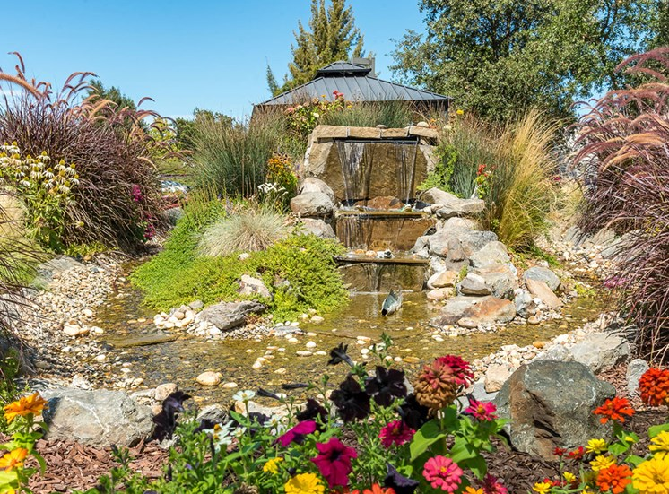 Artificial Water Fountain at Healdsburg, A Pacifica Senior Living Community, Healdsburg, California