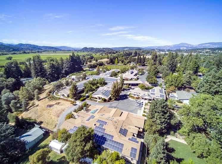 Amazing Skyline at Healdsburg, A Pacifica Senior Living Community, Healdsburg, California