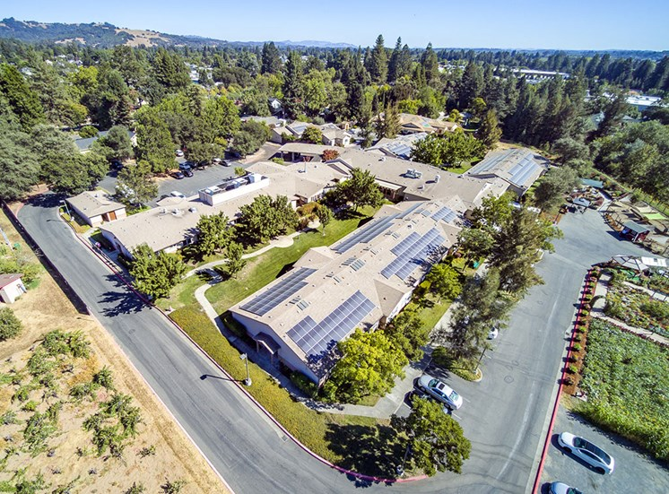 Off Street Parking at Healdsburg, A Pacifica Senior Living Community, California