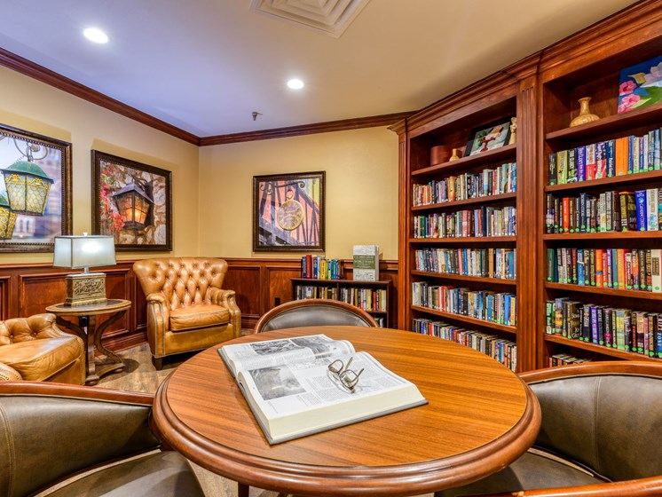 Part of the library at Wyndham Lakes