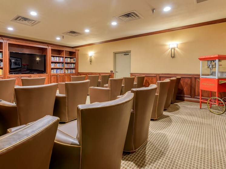 The movie theater at Wyndham Lakes.