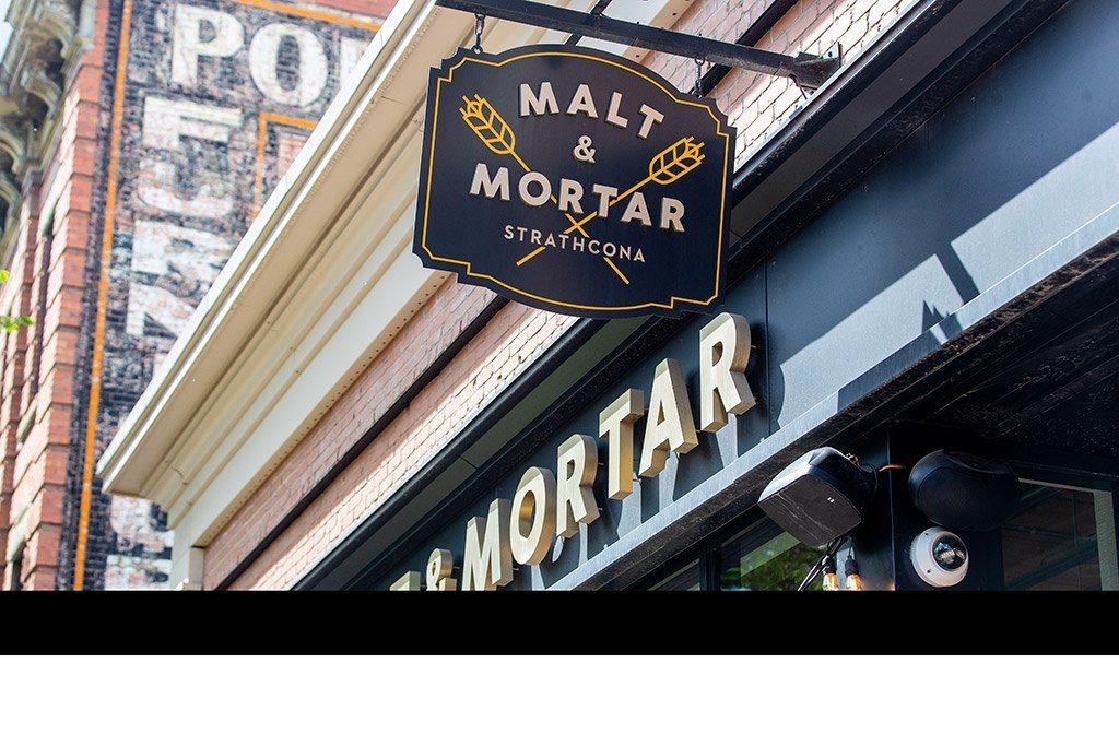 Malt and Mortar Strathcona Restaurant Whyte Avenue Edmonton Alberta