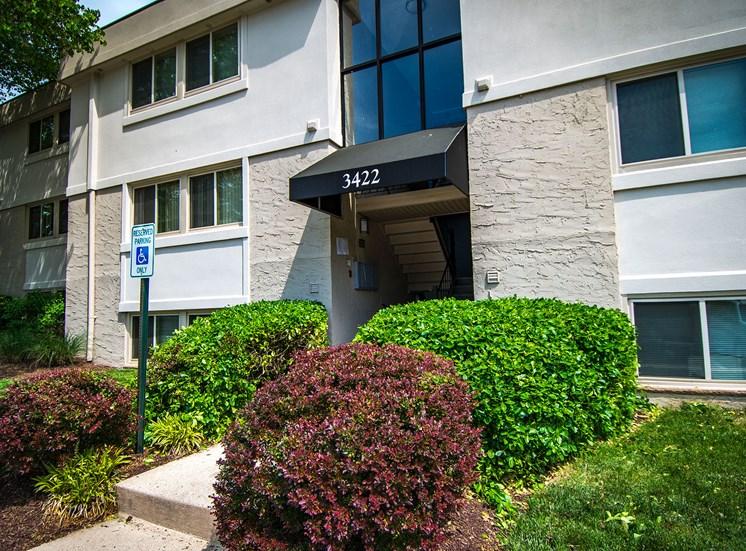 Ashley Apartments Landscaped Entryway Photo