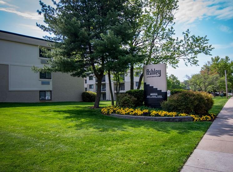 Ashley Apartments Main Signage Photo