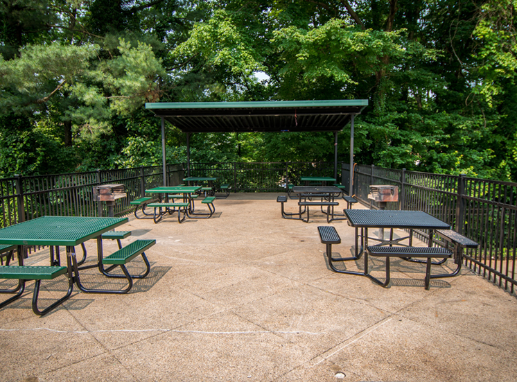 8600 Apartments Picnic Tables Pool Area
