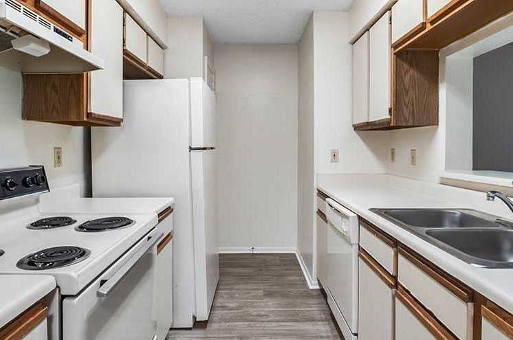 Efficient Appliances In Kitchen at Newport Colony Apartment Homes, Casselberry, FL
