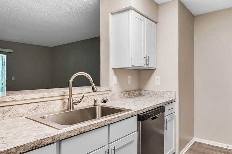 Double Stainless Steel Sink at Newport Colony Apartment Homes, Casselberry, FL, 32707