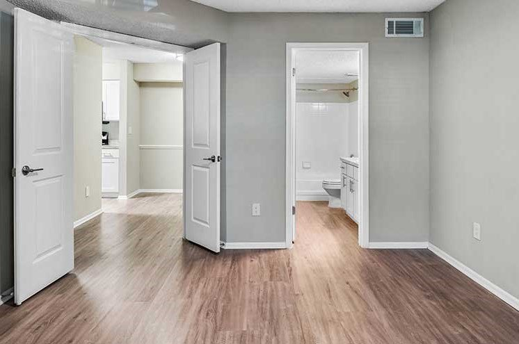 Bedroom With Bathroom View at Newport Colony Apartment Homes, Florida