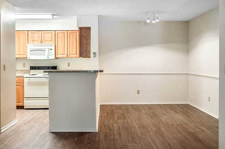 Wood Floor Dining Room at Newport Colony Apartment Homes, Casselberry, Florida