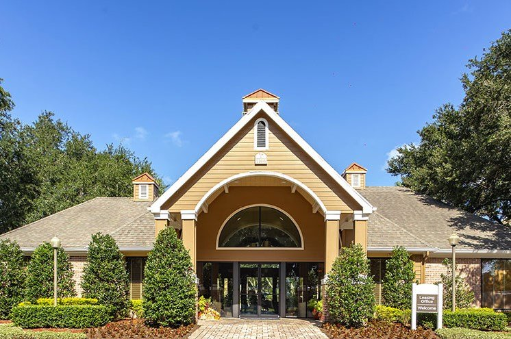 Clubhouse Exterior at Newport Colony Apartment Homes, Casselberry