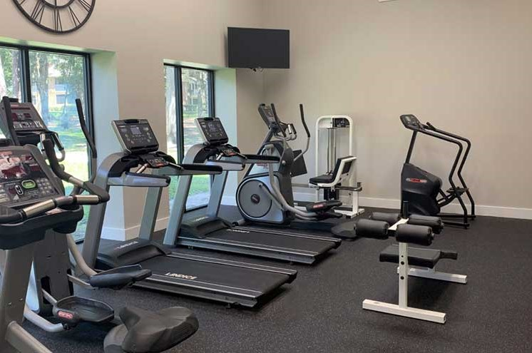 Cardio Machines In Gym at Newport Colony Apartment Homes, Casselberry, FL