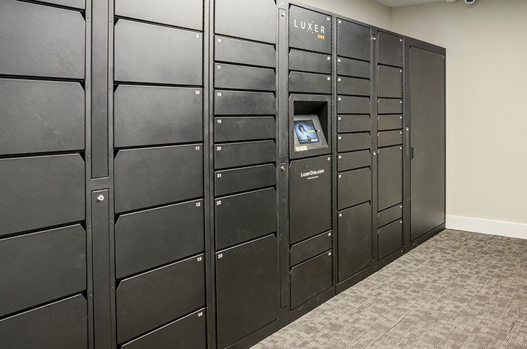Package Lockers at Newport Colony Apartment Homes, Florida