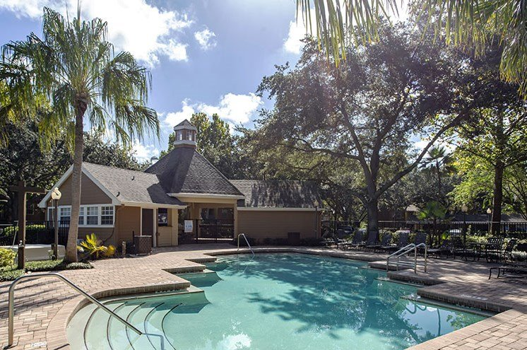 Glimmering Pool at Newport Colony Apartment Homes, Casselberry, Florida