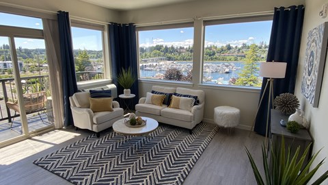 Living Room at Harbor Heights