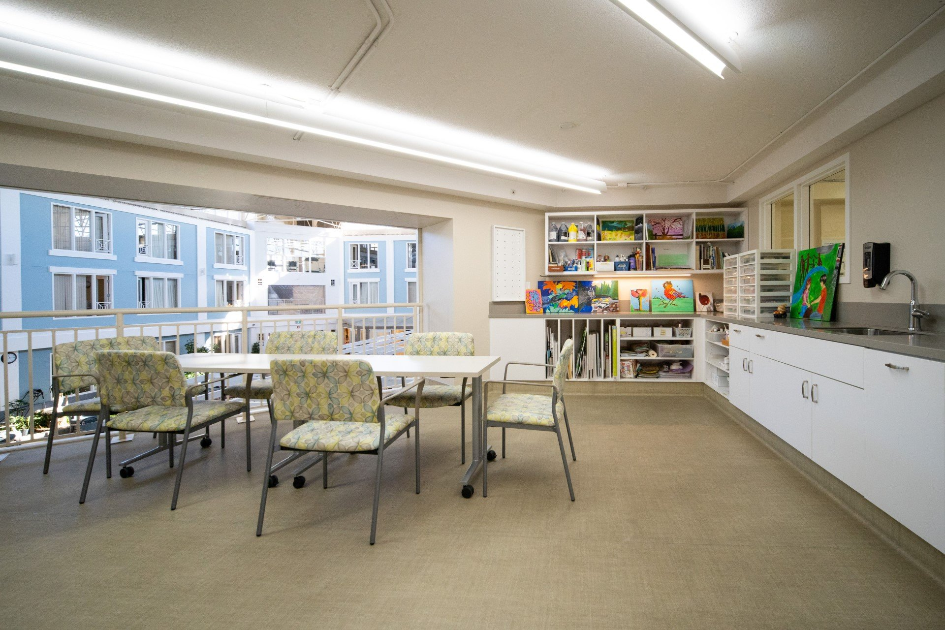 Arts and crafts room at Spruce community