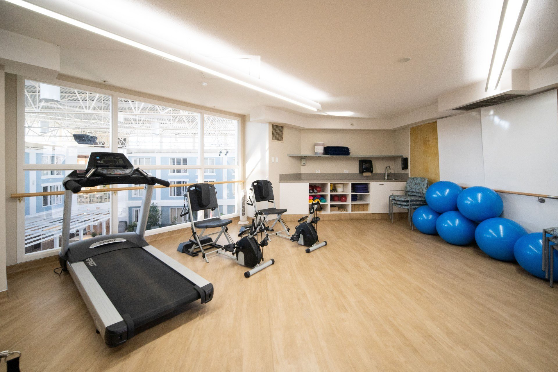 Fitness room at Spruce