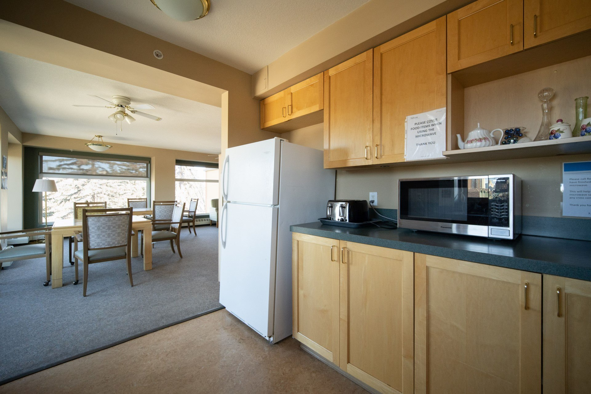 full shared kitchen for  friendly interactions