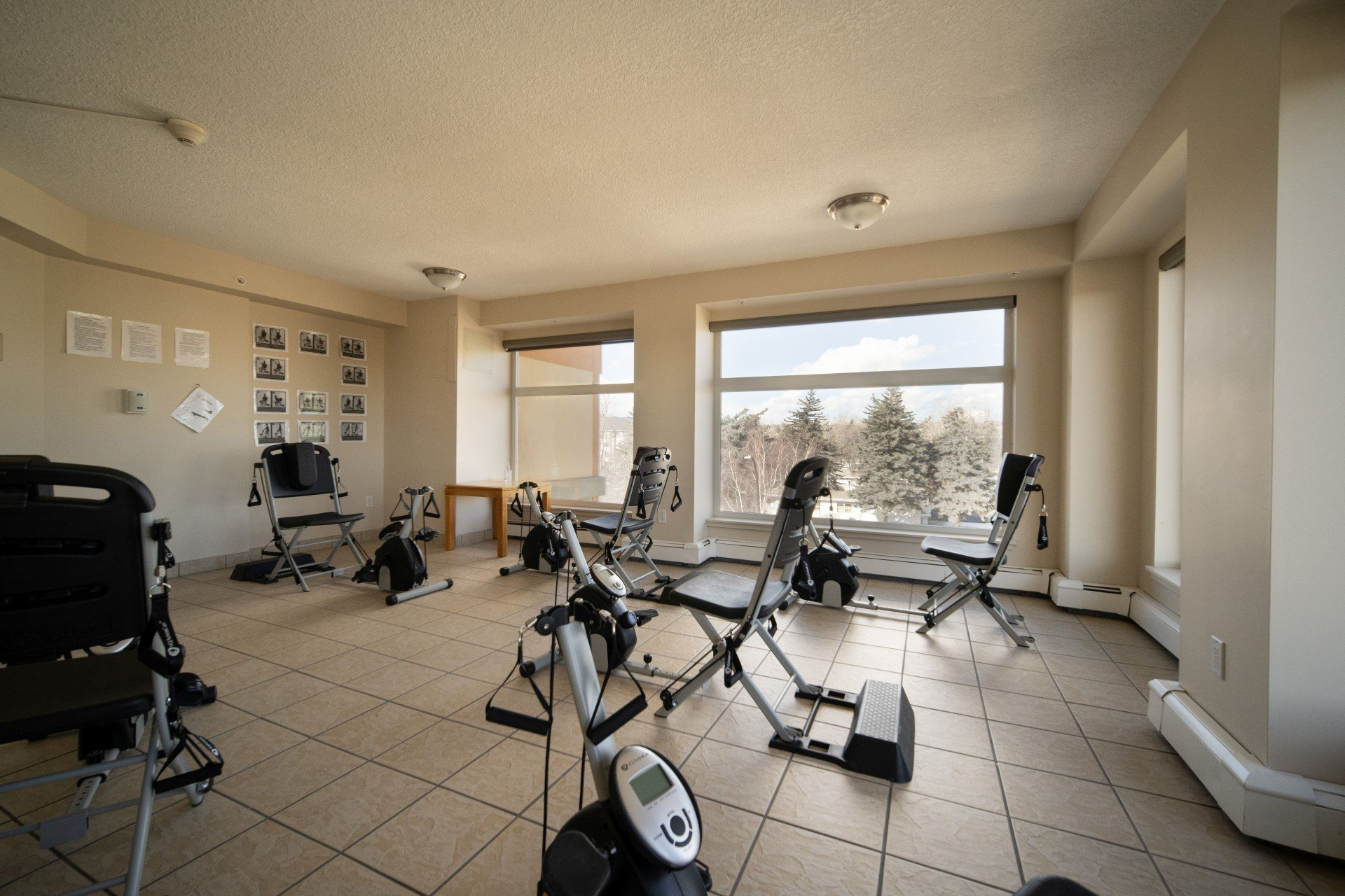 workout room for active living