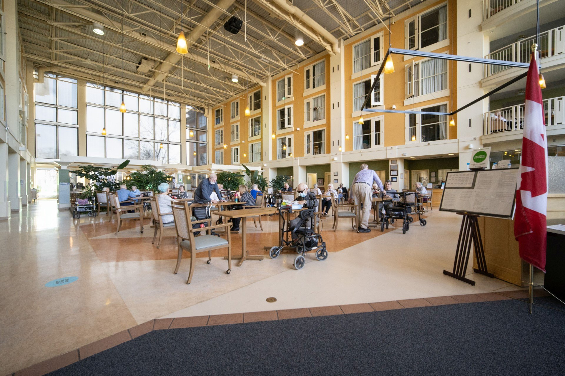 Spacious common area for dining and friendly interactions