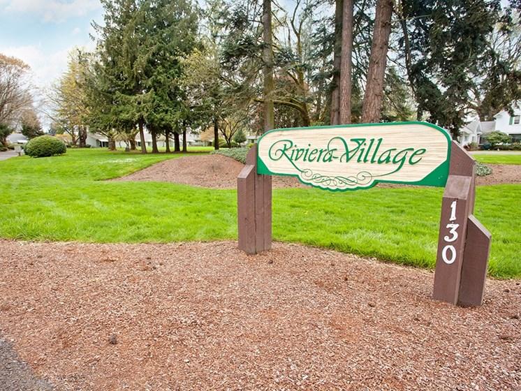 Riviera Village Sign