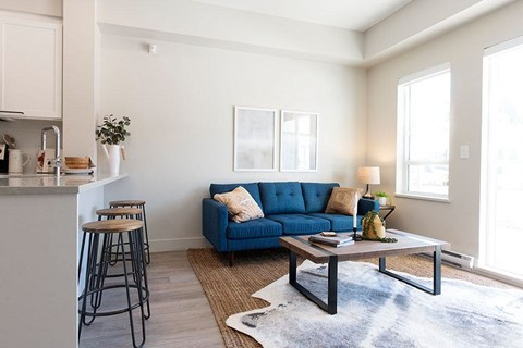 Inlet Glen Apartments in Port Moody, BC bright living room