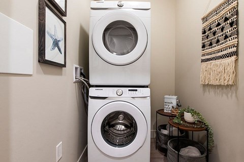 Inlet Glen Apartments in Port Moody, BC insuite laundry with washer and dryer